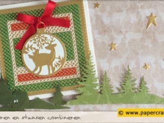 Kruissteek borduren als Kerstkaart