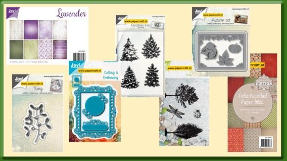 Stempels, Mallen, Papier van Joy! Crafts