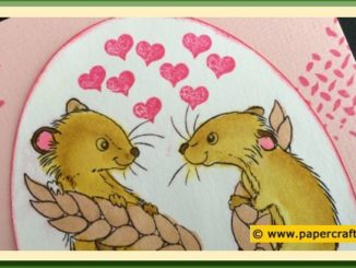 Wild Rose Studio Stempel CL493 Harvest Mice