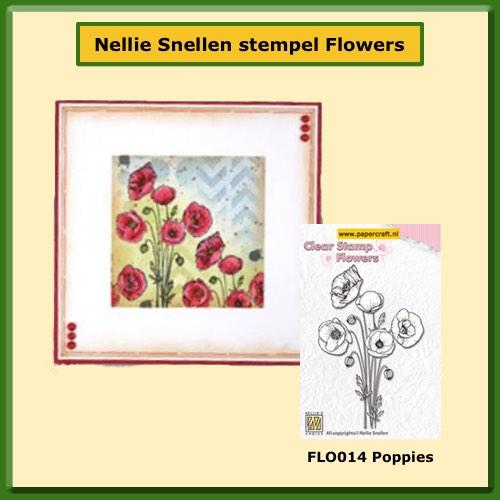 Nellie Snellen Stempel FLO014 Poppies
