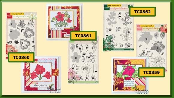 Marianne Design Layered Stamps Bloemen voor Kerst