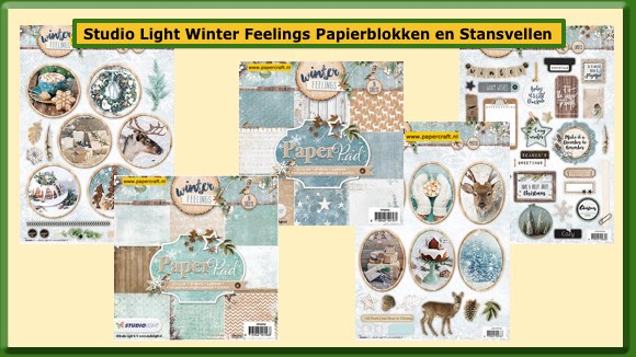 Studio Light Stansvellen en Paper Pads Winter Feelings