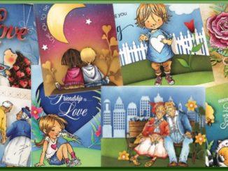 Penny Black Voorbeeldkaarten Love & Roses
