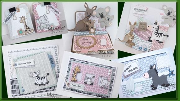 Marianne Design Geboortekaartjes Voorbeelden