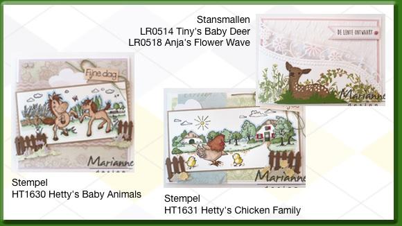 Marianne Design Stempels Op de Boerderij van Hetty Meeuwsen