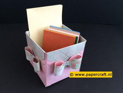 Enveloppen als basis voor een doosje