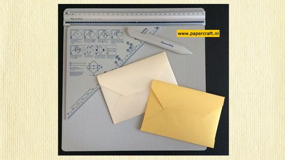 Envelop maken met Scoring Board Tool Set