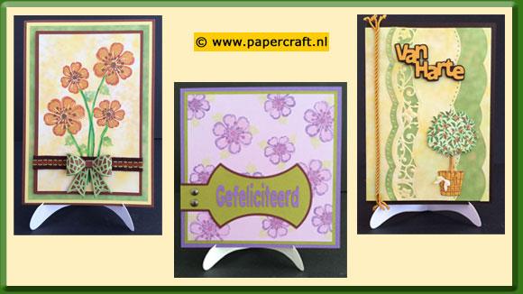 Stempelen in lagen Voorbeeldkaarten