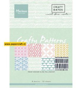 Papierblok Crafty Patterns van Eline Pellinkof PB7054