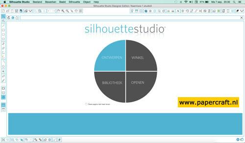 Silhouette Studio Software voor Silhouette Snijmachine