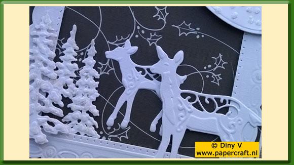 Kerstkaart met Creative Expressions mallen