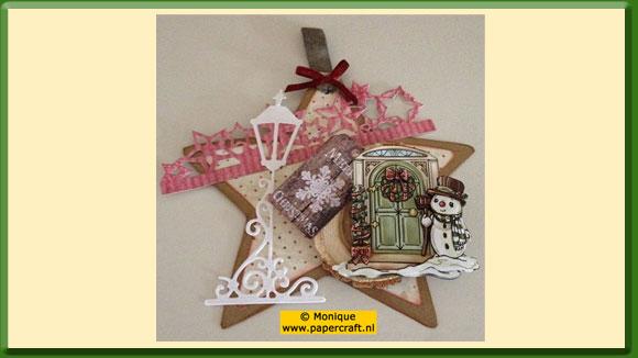 Voorbeeldkaart Kerstster als Kaart